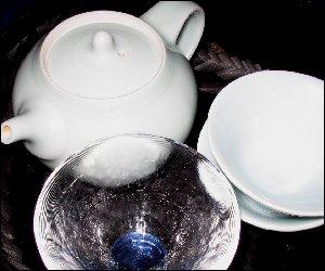 マイ青白磁茶器セット