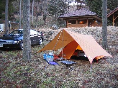 ペンタとテントの組み合わせ