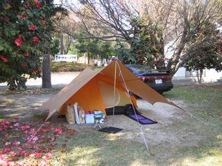 SVXとテント