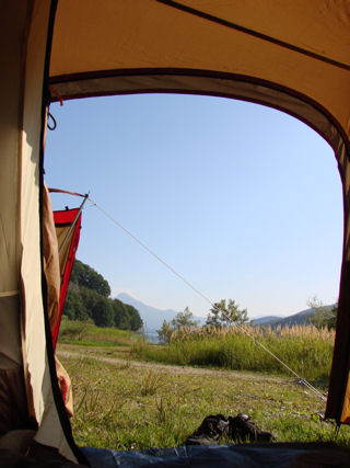 テントの中より撮影