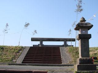 浜鳥居の参道