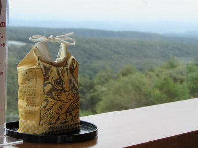 ツシマヤマネコ米が使われているランチもヤマネコだんごもおいしくいただきました