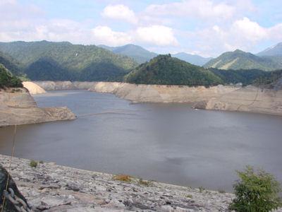 2012年9月15日ならまた湖貯水率35%