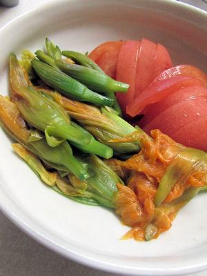 ヤブカンゾウ&トマト