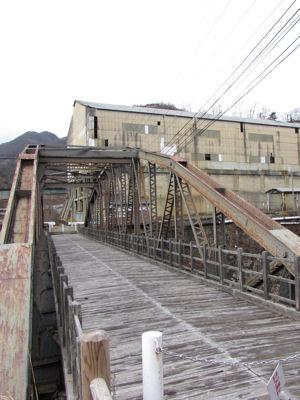 足尾銅山・通行止めの橋