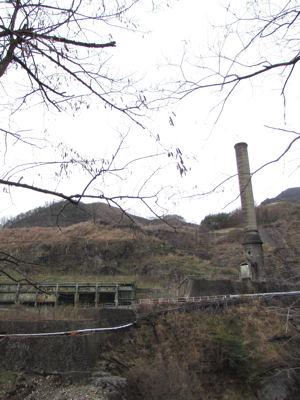 足尾銅山・使われてない煙突