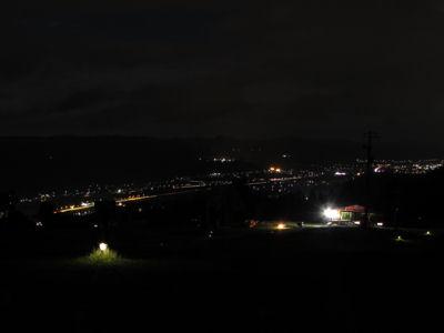 魚沼平野(夜)