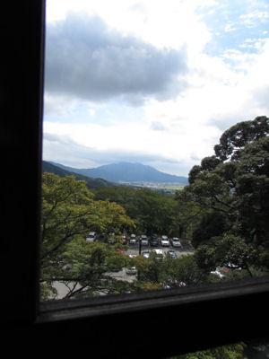 下山後お休み処から筑波山