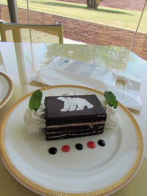 ポンポンのシロクマケーキ