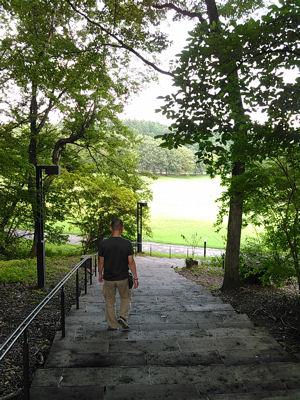 大谷石の階段